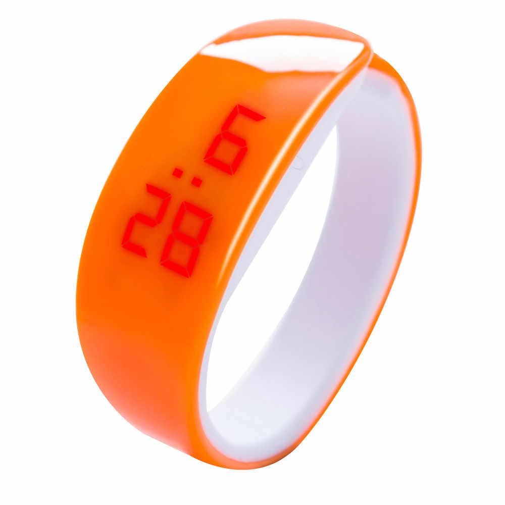 سوار ساعة بشاشة عرض رقمية LED ، سوار رياضي على الموضة من دولفين يونغ ، ساعة إلكترونية ، ساعة يد عصرية للرجال ، ساعة رياضية خارجية
