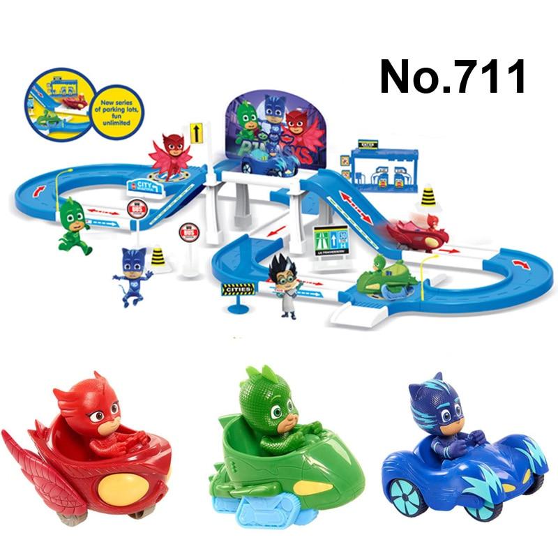 Pj Cartoon Masks Command Center Car Parking Toy Lot Heroes Characters Catboy Owlette Gek ...