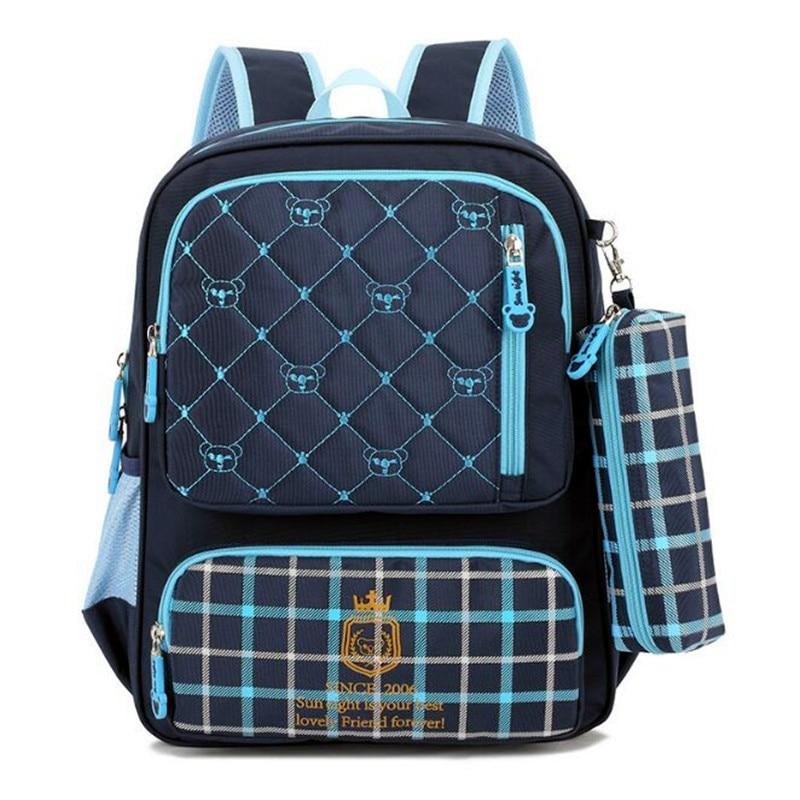 ФОТО Orthopedic School Bags Girl Boy Fashion Nylon Waterproof Children Backpack Kids Bag Large Capacity Mochila Escolar Menina Menino