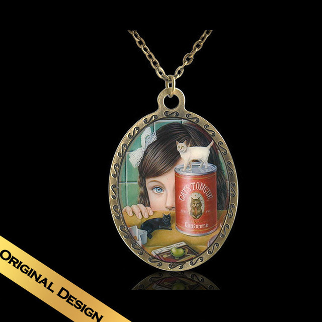Special Chain Necklaces Handmade Enamel Bronze Classic Vintage Design Pendant Jewelry Free Shipping XLG9E06