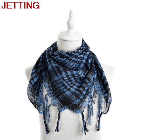 JETTING-Fashion Plaid Printed Men   Scarf     Wraps   New Women Arab   Scarf   Shawl Shemagh Tactical Palestine Light   Scarf   For Men