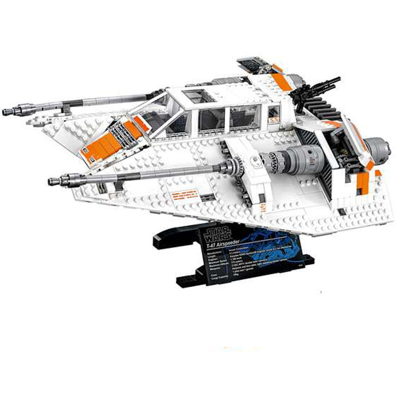 LEPIN 05084 1468pcs Star Series The Snowspeeder Set Model Building Block Diy Brick Educational Toy For children Gift 10129
