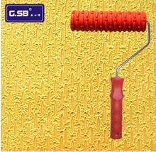 Free Shipping Rubber Roller 7 #8243 Free shipping Net Pattern Paint Roller for Wall Decoration GSB tools NO 135 Paint tool cheap Paint Tool Sets Paint Decorating G.SB Case