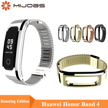 Mijobs Milanese Metal Strap for Huawei Honor Band 4 Running Smart Watch Wristband Wrist Bracelet