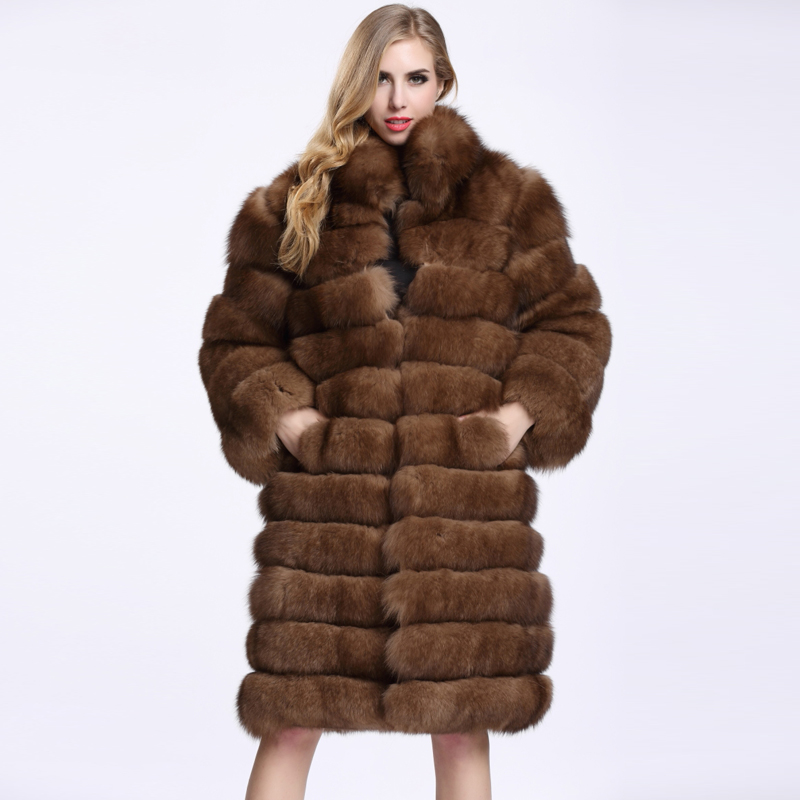 100% Natural Animal Fur Coat Thick Warm Fox Fur Fashion