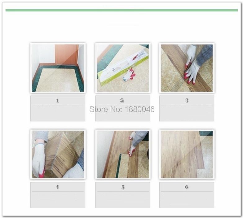 Hohe Qualität selbstklebende Stein korn pvc bodenbelag kunststoff boden fliesen wasserdichte tapete 5 Quadratmetern (1 pack 25 stück) - 6