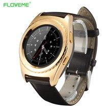 Bluetooth Smart Uhr 1,2 »Ips-bildschirm Leder Armbanduhr Sim/Tf-karte Herzfrequenz Gesundheit Tracker Smartwatch Für Android Samsung