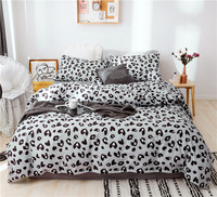 Bedding Set All Cotton Printed Comforter Bedding Sets Bed Set Pillowcases Duvet Cover Bed Sheet Cool Leopard Print