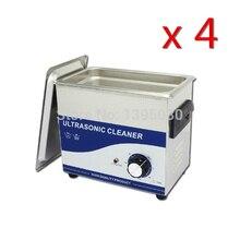 4PCS/Lot JP-020B 3.2L AC110/220V Stainless Steel Digital PCB Mechanical Ultrasonic Cleaner With Basket