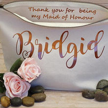 Персонализировать имя подружки невесты макияжные пакеты Свадебный подарок подружки невесты косметичка уникальный подарок для невесты вечерние сумки