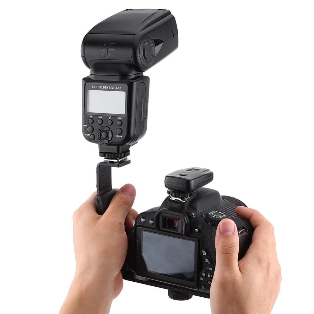 Photography L Bracket with 2 Standard Flash Hot Shoe Mounts for DSLR Cameras