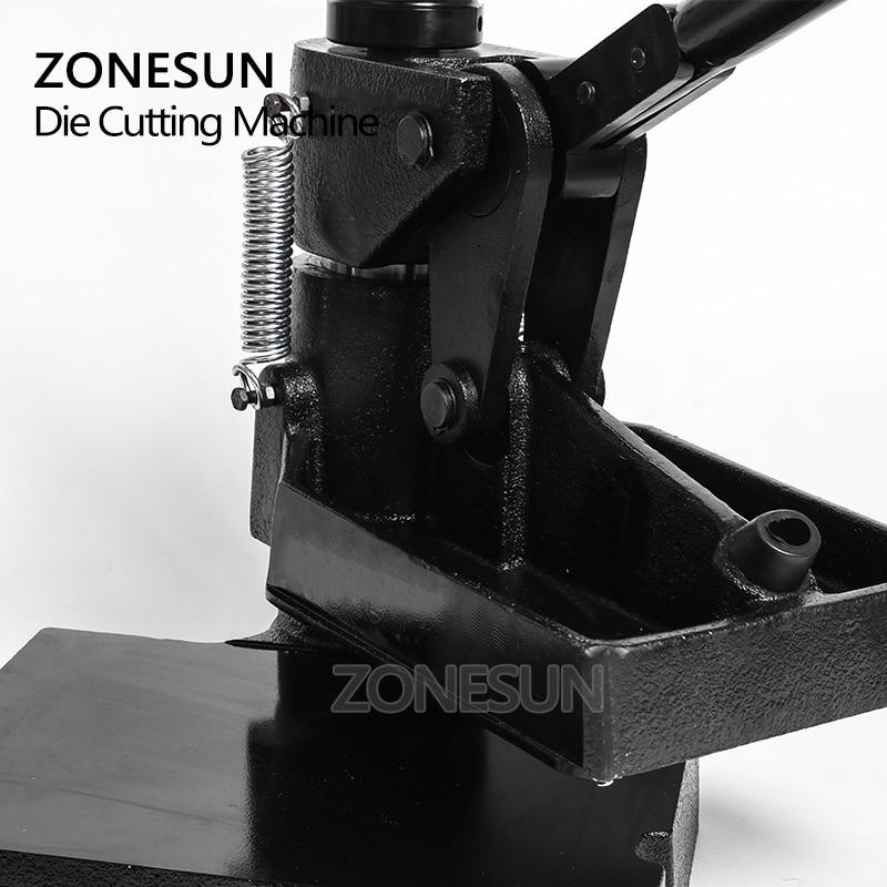 ZONESUN 8360 nacisk dłoni maszyna do pobierania próbek, nóż laserowy formy skóra maszyna stemplująca, ręczna maszyna do cięcia skóry formy