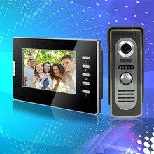 7 pulgadas a color con cable video de la puerta sistema de intercomunicación teléfono con RFID COMS IR al aire libre cámara de vídeo timbre de la puerta para el hogar Envío rápido libre
