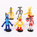 6pcs/lot 9cm Five Nights At Freddy's Action Figure Toys, FNAF Mangle Golden Freddy Fazbear PVC Figures Model, Kid Toy