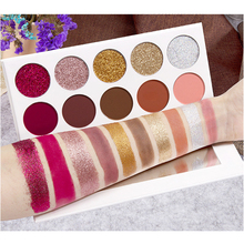цена 5 Glitter + 5 Matte Eyeshadow Palette Pressed Diamond Glitter EyeShadow injection EyeShadow Glitter Diamond Rainbow Eyeshadow онлайн в 2017 году