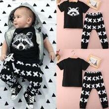 Новинка года; пижамный комплект с длинными рукавами для девочек; Черная футболка с короткими рукавами и рисунком лисы+ штаны с принтом