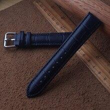 12 мм 13 мм 14 мм 15 мм 16 мм 17 мм 18 мм 19 мм Ремешки для наручных часов темно-синий для мужчин и женщин ремешки браслеты из натуральной кожи