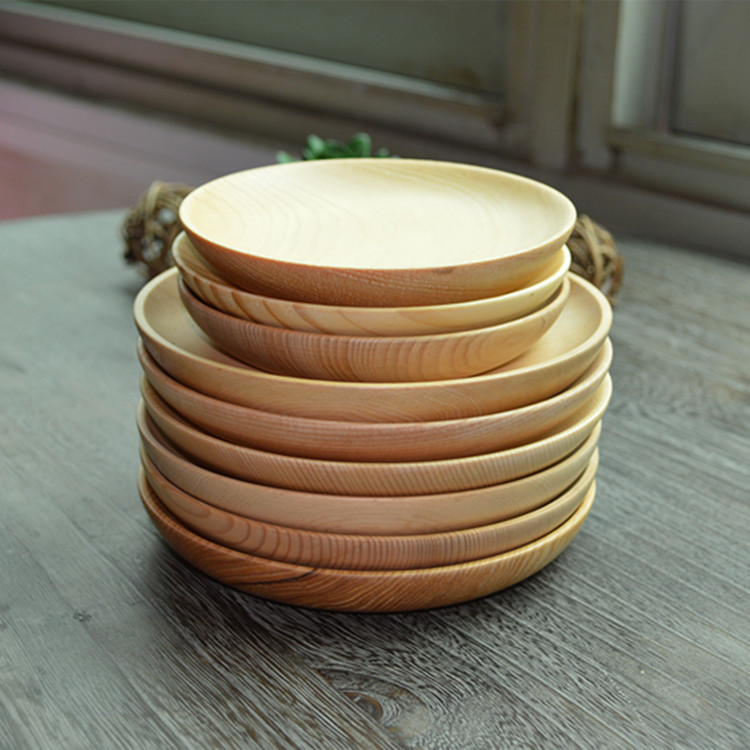 Chinese Brief Wooden Plate Breakfast Wood Plates Tea Trays Dishes Tableware 5.5 And 4.5 Inch-in Dishes u0026 Plates from Home u0026 Garden on Aliexpress.com ... & Chinese Brief Wooden Plate Breakfast Wood Plates Tea Trays Dishes ...