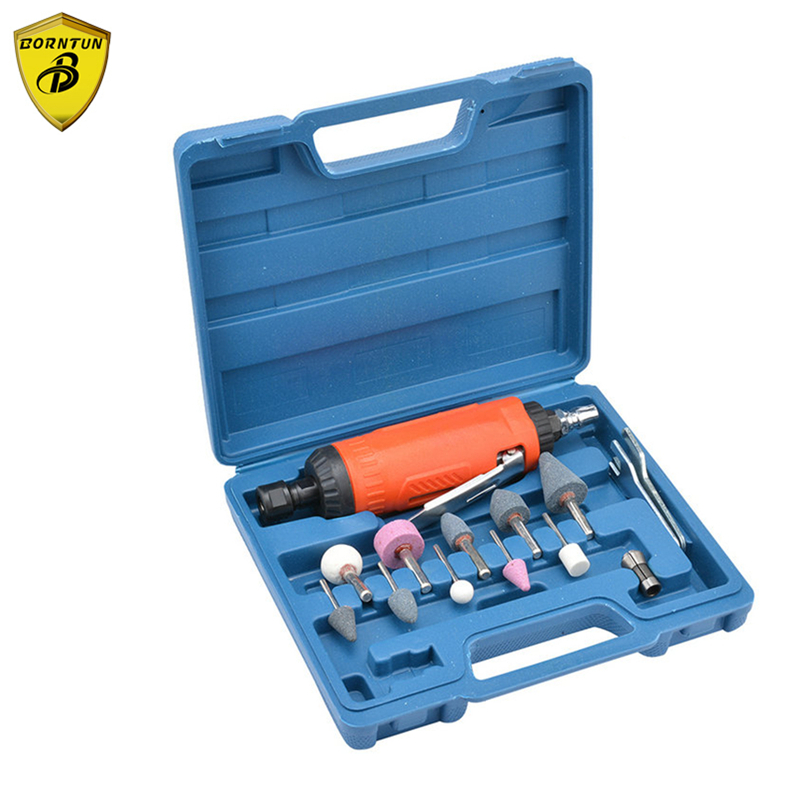 Borntun 3mm Mini Pneumatic Air Die Grinder Kit Micro Pneumatic Grinding 6mm Die Grinders High Speed 25000rpm Air Power Polishers