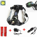 Waterproof Led Headlamp 2000LM XML T6 Zoom Headlight 18650 Head Flashlight Zoomable Adjust Focus For Camping Fishing +2x Battery