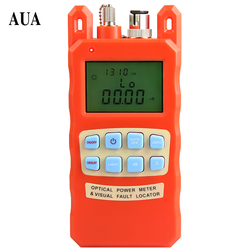 orange Optical power meter visual fault locator  2in1 machine 1-5km  red light source optical fiber tester combination AUA-70AC