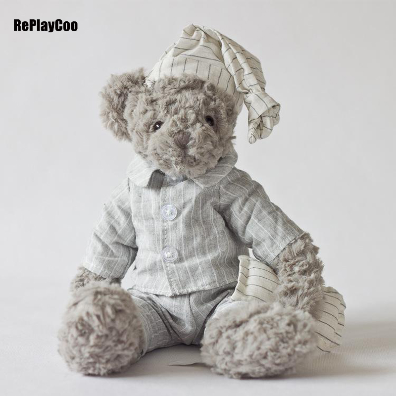 35Cm/14'' Teddy Bear Real Life Plush Toys Soft Bears Animal Toy Gifts Dolls Clothes Kawaii Teddy Bears Stuffed Teddy-Bear цена