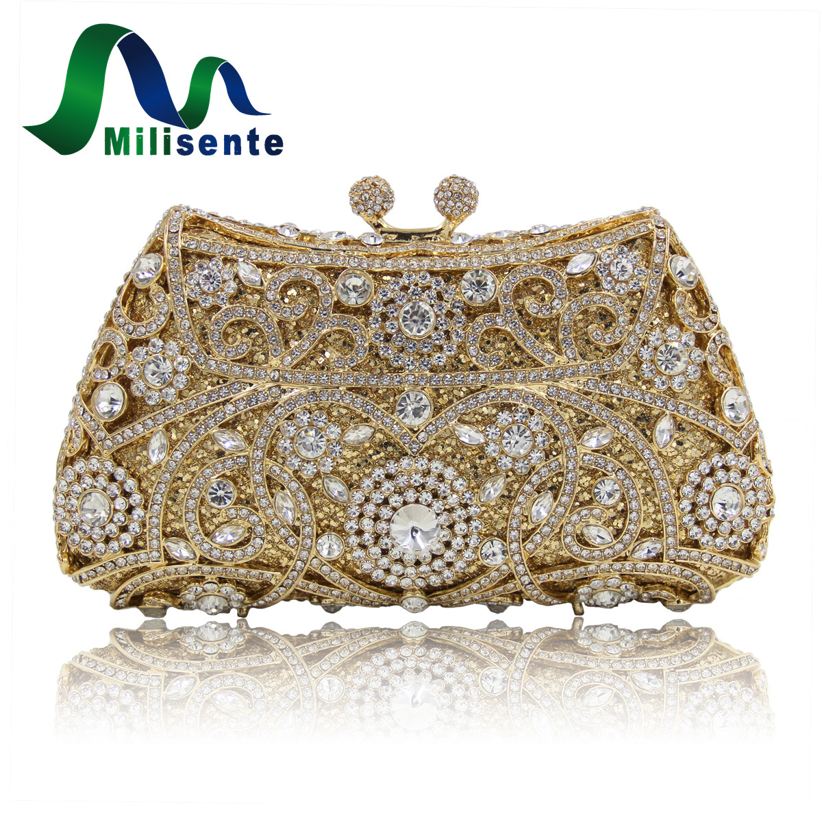 Online Get Cheap Silver Crystal Clutch Purse -Aliexpress.com ...