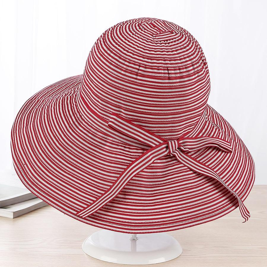 b262cf8d3fe Summer Women Sun Hats Classic Foldable Patchwork Wide Brim Straw Hat Nice  Fashion Bow Summerb Girl Hat Lady Derby Hats Beach Cap-in Sun Hats from  Apparel ...