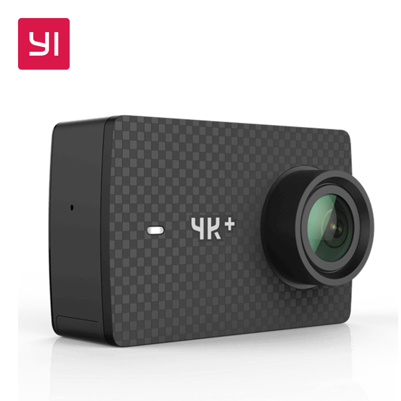 YI 4K+(Plus) Action Camera Black International Edition FIRST 4K/60fps Amba H2 SOC Cortex-A53 IMX377 12MP CMOS 2.2LDC RAM WIFI