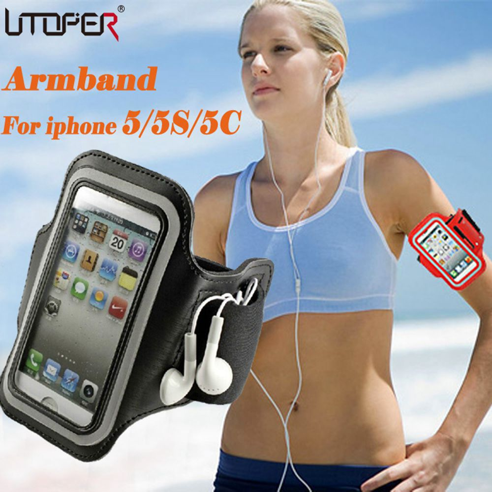 Adjustable SPORT GYM Armband Bag Case for Apple iPhone 5 5S 5C SE 4 4S touch Waterproof Jogging Arm Band Mobile Phone Belt Cover