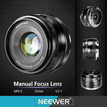 Best price Neewer 35mm f/1.7 Manual Focus Prime Fixed Lens for SONY E-Mount Digital Cameras Such as NEX3, 3N, 5, 5T,A6000, A6100 and A6300