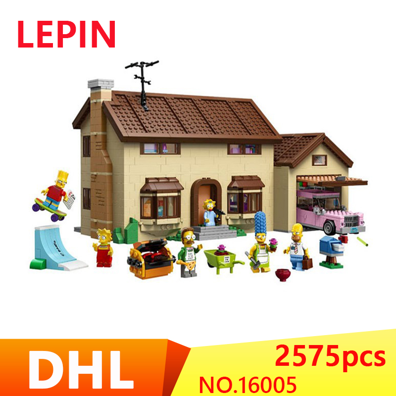 New LEPIN 16005 2575Pcs the Simpsons House Model Building Block Bricks Compatible 71006 Boy gift legoed 100pcs lot ss26 sr2100 smb do 214aa smd schottky diodes