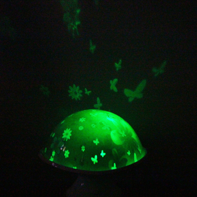 Moonlight Floral Mushroom LED Colorful Color Changing Magical Projection Night Light Bedroom Decor Lamp For Romantic Gift