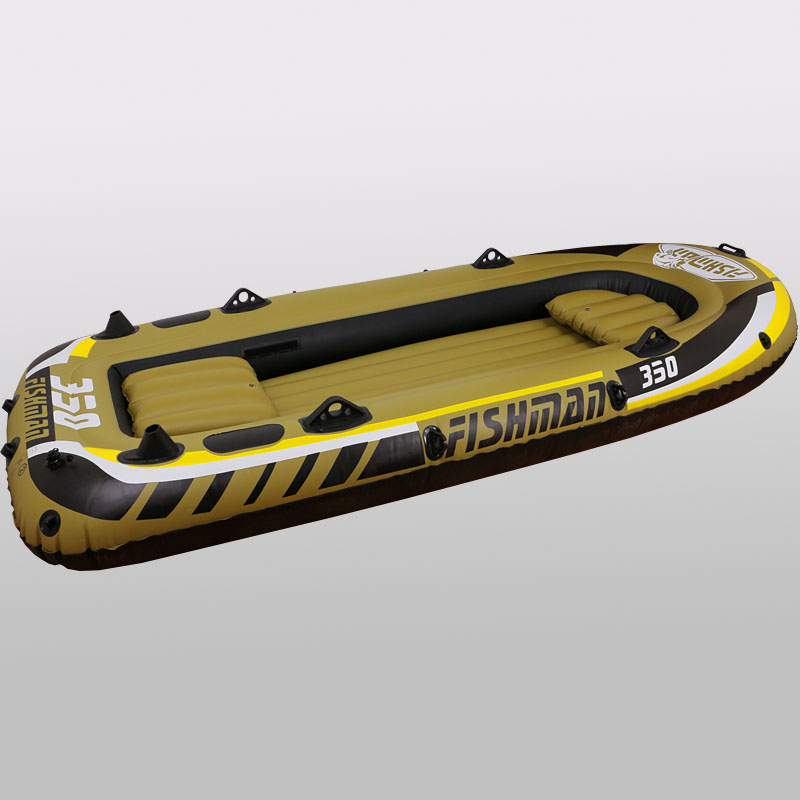 3+1 Person 305*136*42cm thick fishing boat inflatable boat kayak dinghy raft accessory canoe alumnium oar paddle pumpA06008 5