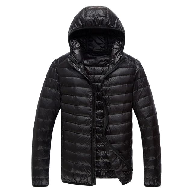 178ce1787 US $29.84 35% OFF|YuWaiJiaRen Hooded UltraLight Grey Duck Down Jacket Men  Warm Thin Brand Men's Clothing Winter Down Jacket Outerwear-in Down Jackets  ...