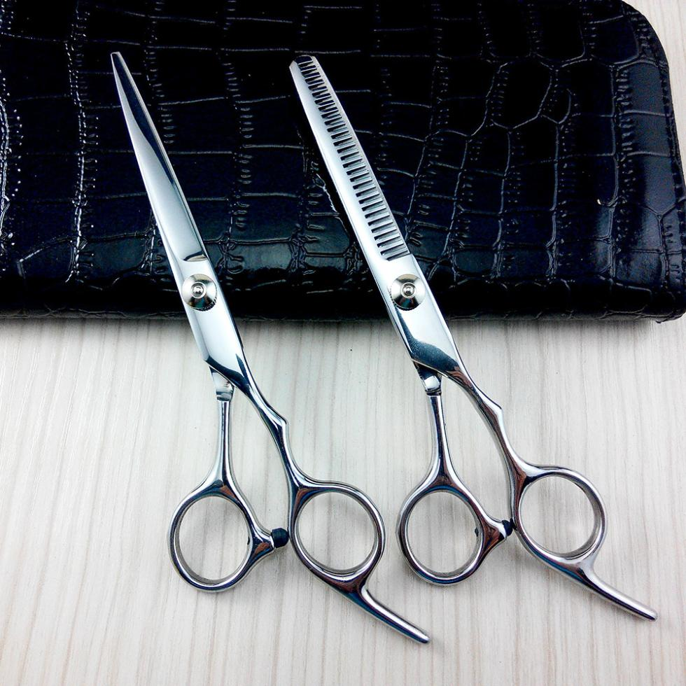 New Professional 6 Hair Cutting Thinning Scissors Shears Hairdressing Set Case