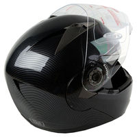 Black Motocross Helmet 3 Sizes Full Face Motorcycle Helmets For Racing Manufacturer