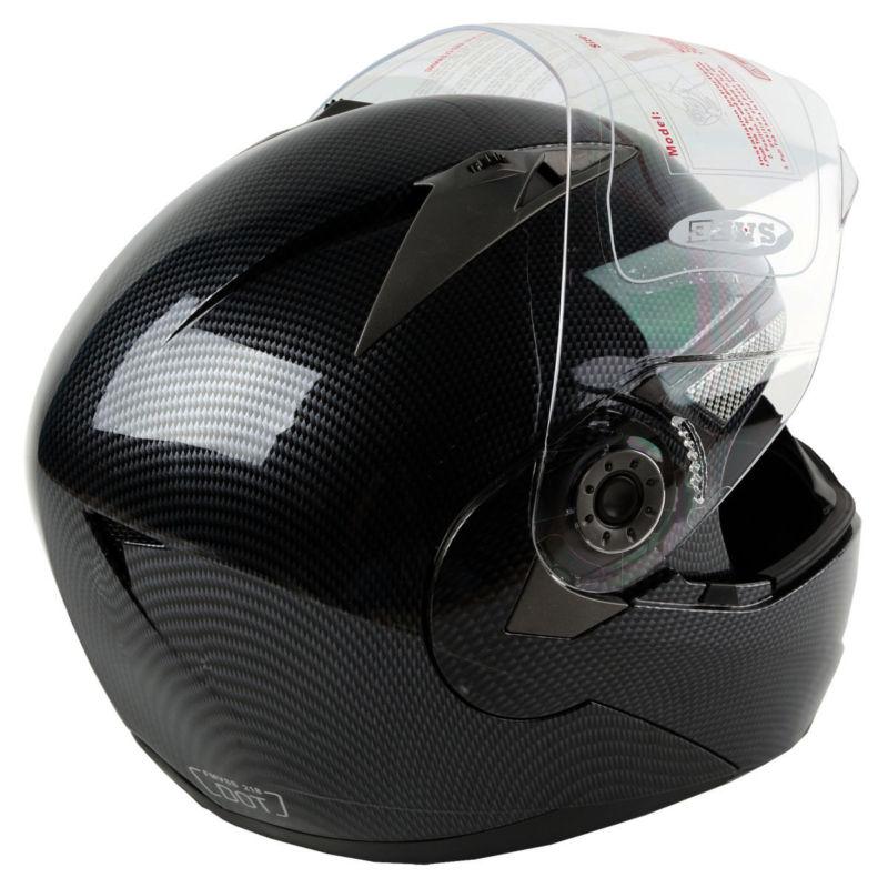 Casque de Motocross noir modulaire Flip Up intégral et demi casque double visière casque de moto S M L XL