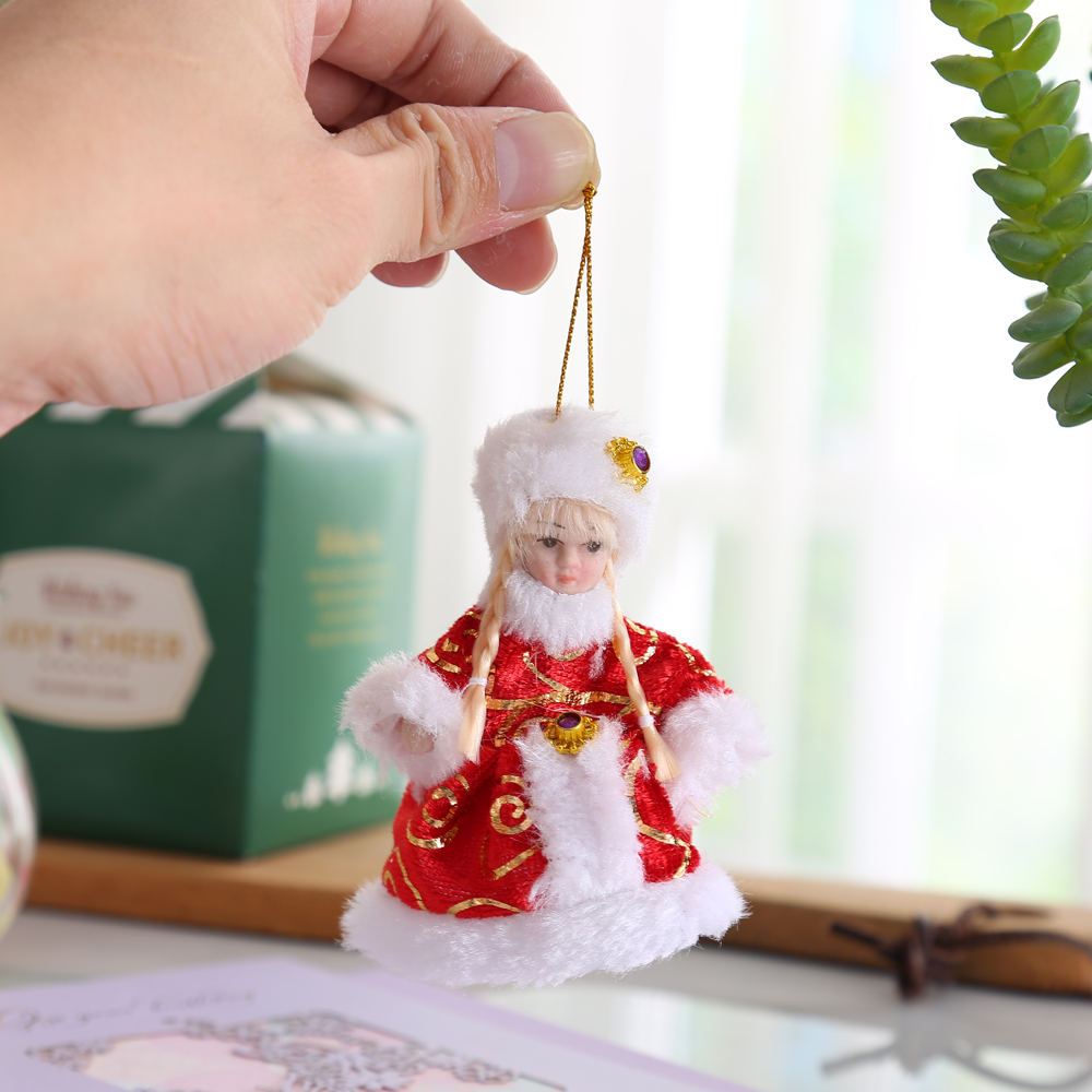 Small Handmade ceramice stil victorian Doll China Porțelan Fata frumoasă de origine de Craciun Tree Bag Decorare Zid Hanging