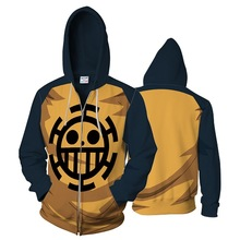 One Piece 3D Printed Zipper Sweatshirts Men Women Hoodie