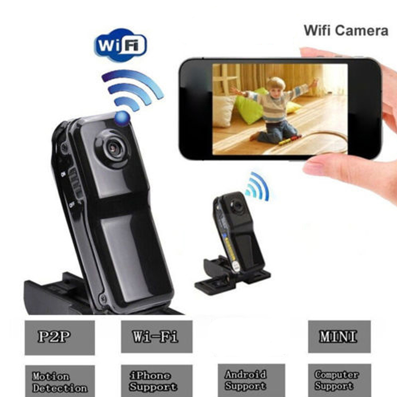 Mini MD81 Camera WIFI IP Camera DV DVR Wireless Camcorder Webcam Sports Cam Motion Detection for iOS Android System PK MD80