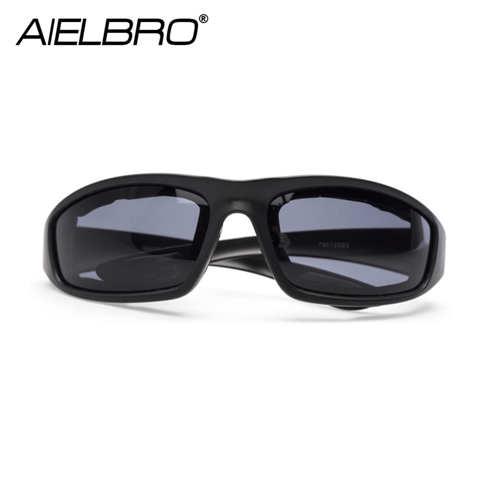Купить с кэшбэком AIELBRO Windproof New Motorcycle Riding Cycling Glasses Resistant Shatterproof Black Frame Goggles Eye Protection