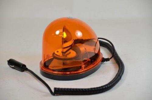 Car / Truck / SUV Magnetic Mount Teardrop Style Rotating Warning Light - Amber
