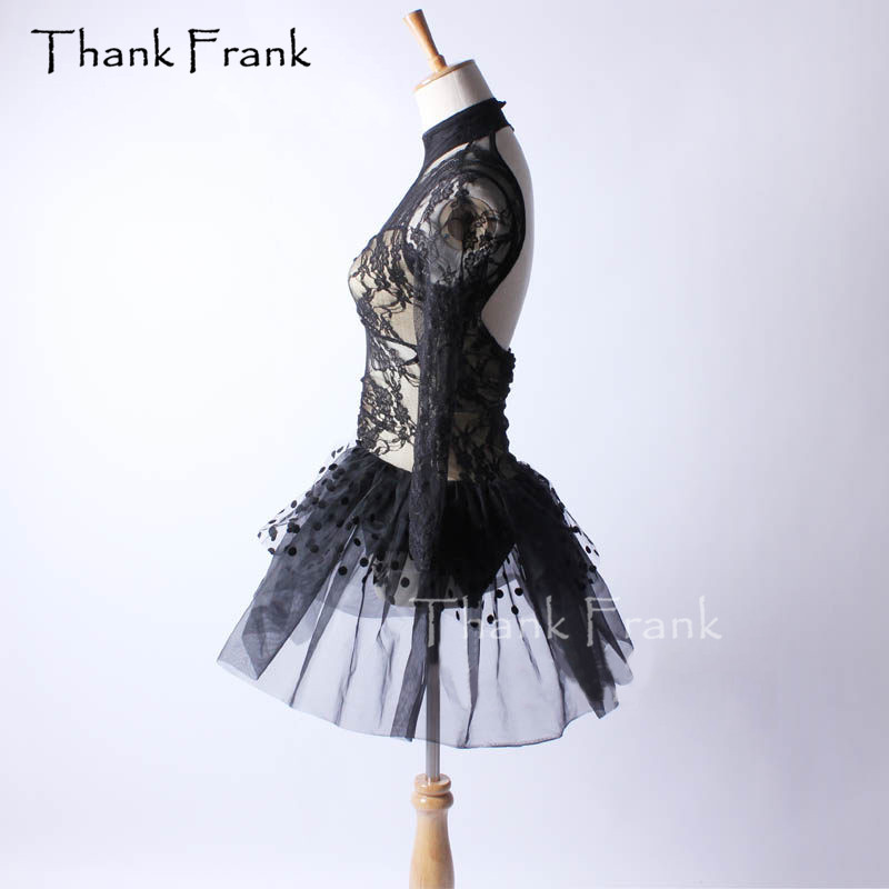 Sexy Lace Ballet Tutu Dress Girls Adult Long Sleeve Dance Costume Thank Frank C391-in Ballet from Novelty & Special Use    3