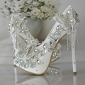 Super Flash Wedding Shoes Diamond Crystal Butterfly High Heels Shoes Woman Bride Shoes Elegant Dress Shoes  Women's Pumps