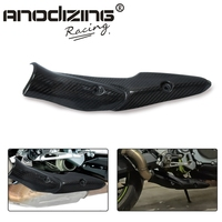 Motorcycle Middle Link Pipe Exhaust System Carbon Fiber Heat Shield Cover Guard Anti Scalding Shell For Kawasaki Z900 2017 2019