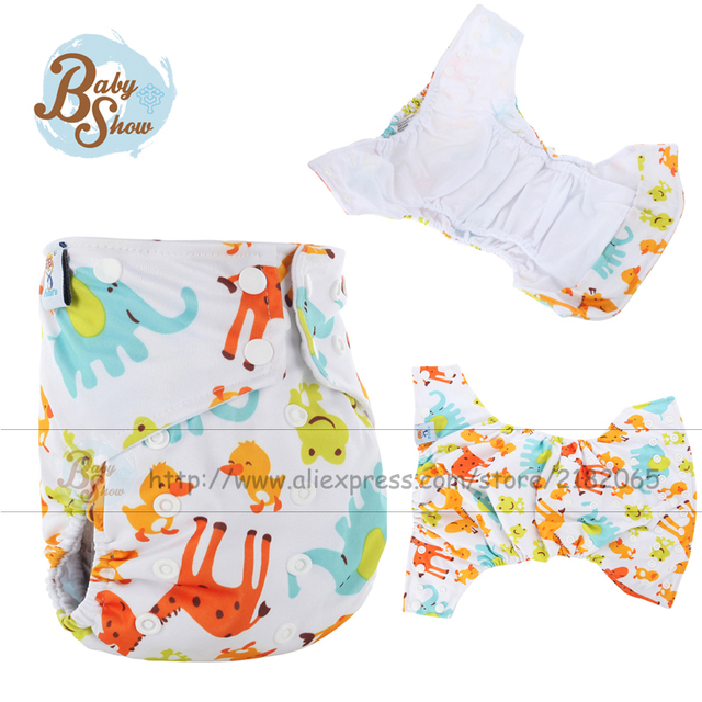 2016 New Reusable Baby Diaper Nappies AI2 Fralda Printing Merries Pannolini Lavabili Ai2 Diaper Washable Baby Cloth Diaper Cover