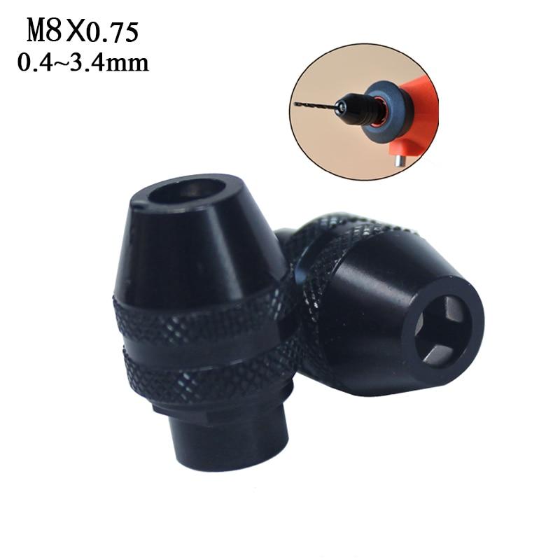 mini mandrins de perçage mandrin sans clé pour dremel outils rotatifs dremel accessoires 0.4-3.2mm petit mandrin pour arbre flexible