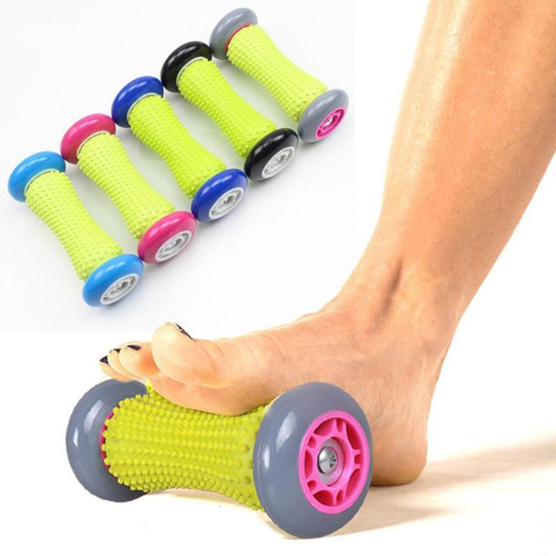 1pcs Stress Relief Foot Massager Roller Plantar Fasciitis Portable Hand Massage Roller Massage Wheel Relaxation Health Care C2 kifit 2x chinese baoding balls fitness handball health exercise stress relaxation therapy chrome hand massage ball 38mm