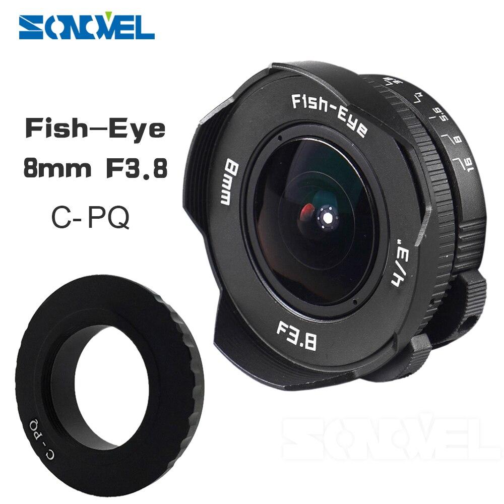 8mm F3.8 Fish-eye C monture grand Angle Fisheye lentille focale poisson eye lentille costume pour C-P/Q pour Pentax Q/Q10/Q7/Q-S1 appareil photo8mm F3.8 Fish-eye C monture grand Angle Fisheye lentille focale poisson eye lentille costume pour C-P/Q pour Pentax Q/Q10/Q7/Q-S1 appareil photo